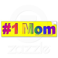 Thank you in Anchorage, AK USA for getting the #1 Mom Rainbow 3D Yellow Bumper sticker! :)