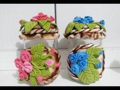 DIY_LU Passo a Pasdo_ Pote de Rosas em Biscuit _ parte 2/5 - YouTube