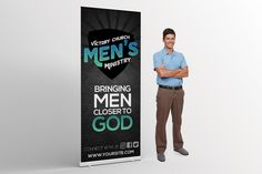 Men's Ministry Church Banner - Get the word out about your church's men's ministry with this beautiful banner design.