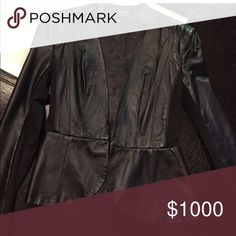 Looking for this BEBE peplum leather blazer. Is anyone selling this? Tag me.. need small bebe Jackets & Coats Blazers
