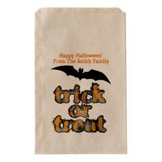 Halloween Treat Favor Bag