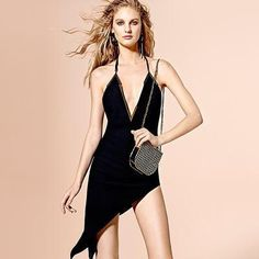 The classic LBD becomes a little more daring with plunging necklines – wear with attitude #NetaPorterXCovetMe #covetme