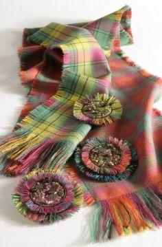 Double Tartan Scarf. Like the heathered fabric tones