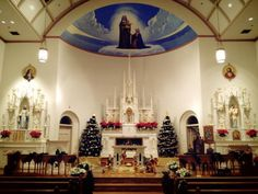 Image result for christmas midnight mass, st. anne's, mackinac