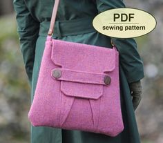 Polstead Heath Messenger Bag by Charlie's Aunt Designs at PatternPile