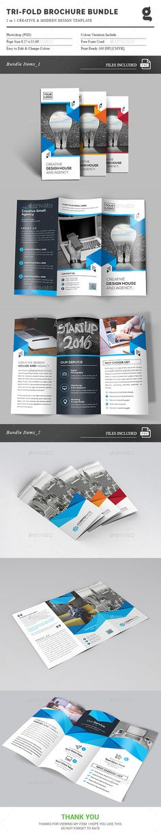 Tri-Fold Brochure 2 in 1 - Corporate Brochures Download here : https://graphicriver.net/item/trifold-brochure-2-in-1/19280394?s_rank=103&ref=Al-fatih