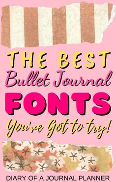 The 14 fonts every bullet journal lovers needs to try out in next mont['s bullet journal spreads! #bulletjournalfonts #handlettering #fonts #calligraphy #bulletjournal #Bujo