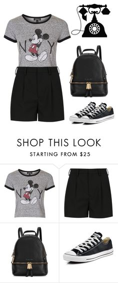 """""""look confortavel"""" by marisa-meirinho ❤ liked on Polyvore featuring Topshop, Yves Saint Laurent, Michael Kors, Converse and look"""