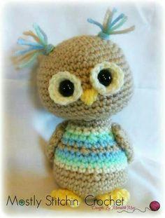 Owl Crochet Patterns, Crochet Owls, Crochet Motifs, Owl Patterns, Cute Crochet, Crochet Animals, Amigurumi Patterns, Crochet Designs, Crochet Crafts