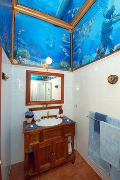 Image detail for -... bathroom - life size stick ups murals ocean theme - nautical style