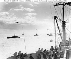 Normandy Invasion - Crossing the English Channel on D-Day, 6 June 1944