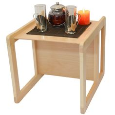 This listing is for one multifunctional table or chair made from solid beech wood (frame) with the seat / backrest made from beech ply and is varnished in clear child safe water based varnish. Price £39.99