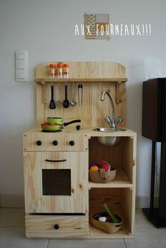 Homemade kitchen for kids