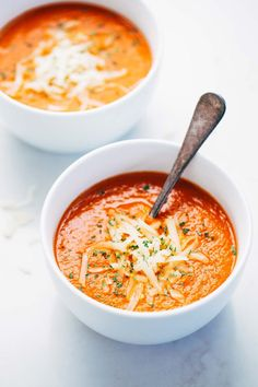 Simple Homemade Tomato Soup - SO easy to make and requires only a handful of pantry ingredients.