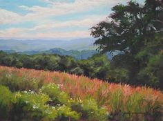 """Daily Paintworks - """"Overlooking the Fields"""" - Original Fine Art for Sale - © Jamie Williams Grossman"""