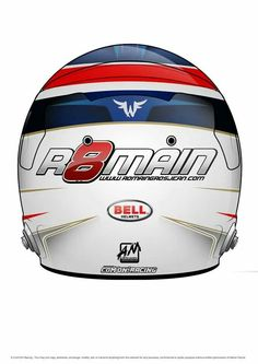 Romain Grosjean #8 helmet for 2014
