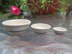 Dollhouse Miniatures ~ Jane Graber Stoneware Nesting Bowls Set of 3 ~ Sm.,Med,Lg | eBay
