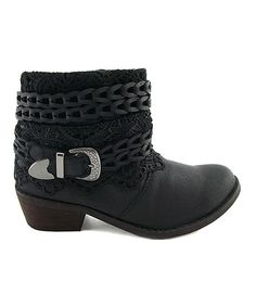 Another great find on #zulily! Black Cowboy Lace Cash Boot by TigerBear Republik #zulilyfinds