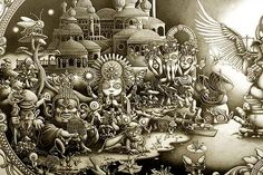 Arte, tinta, detalles e ilustración de JOE FENTON