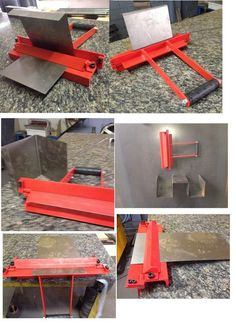 Metal working projects: You should not show an example in any way or display different examples which means that your kids can create things themselves. Metal Bending Tools, Metal Working Tools, Metal Tools, Sheet Metal Bender, Sheet Metal Brake, Metal Projects, Welding Projects, Diy Projects, Welding Tools