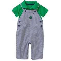 Child of Mine by Carters Newborn Baby Boys' 2 Piece Polo Shirt and Overalls Set: Baby Clothing : Walmart.com