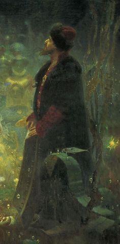 Repin  Sadko in the Underwater Kingdom Giclee Canvas Print