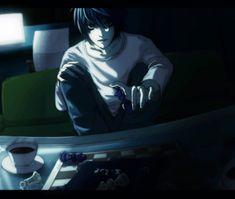 L Lawliet L Death Note, L Lawliet, L And Light, Sad Art, Shinigami, Emo Boys, I Love Him, Manga, Shadows