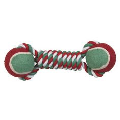 Just as human athletes appreciate the chance to work off excess energy with a set of weights, the Grreat Choice #Rope #Tennis #Dumbell offers the same opportunity for your pet. He'll be able to fetch and carry the holiday-colored toy anywhere he likes --and anytime his Pet Parent grabs the other end, there'll be even more entertainment at hand. #Holiday #Doggie From Forever Friends Fine Stationery & Favors http://foreverfriends.carlsoncraft.com