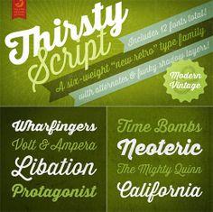 Thirsty Script Font