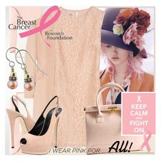 I Wear Pink For____________ by jodente on Polyvore featuring polyvore, fashion, style, Philosophy di Alberta Ferretti, Giuseppe Zanotti, Crane & Co., Estée Lauder, clothing, pink dress, breast cancer research, pink, i wear pink for____, cancer awareness, pink shoes and jodente