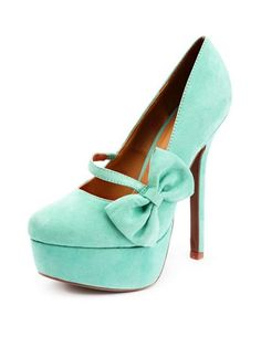 Sueded Side Bow Mary Jane Pump: Charlotte Russe. these for graduation?? yesplease