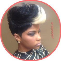 Edgy - Black Hair Information Community Short Sassy Hair, Short Hair Cuts, Short Hair Styles, Pixie Styles, Short Pixie, Love Hair, Great Hair, Gorgeous Hair, Dope Hairstyles