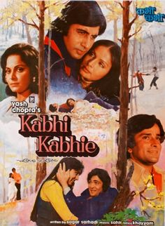 Find more movies like Kabhie Kabhie to watch, Latest Kabhie Kabhie Trailer, Kabhi Kabhie is a movie about the love story of generations and how a chain of events brings together old lovers as friends. Free Bollywood Movies, Bollywood Posters, Bollywood Songs, Bollywood Actors, Kabhi Kabhi Movie, Amitabh Movies, Hindi Movies Online, Hd Movies Download, Top Movies