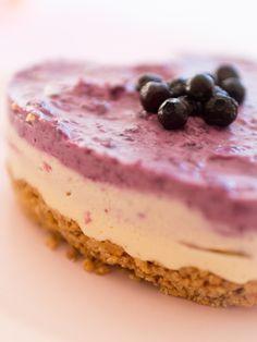 Frau Zuckerfee: Frischkäse Torte mit Blaubeeren