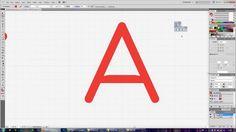 Typeface design timelapse #1