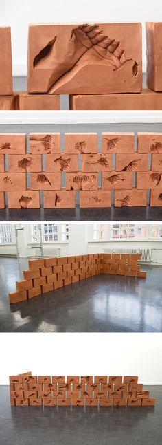 Intimately Cupped Hands Cast Inside Clay Bricks by Dan Stockholm