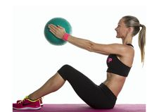 Medicine ball sit-up with chest press - Women's Health & Fitness