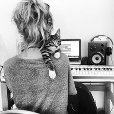 (RP open with Lilian ignore the cat) sat in a public studio where anyone was welcome. I sat down by the piano and held a guitar in my lap. I wrote down some lyrics on a paper and closed my eyes and started to sing with passion and with love. When i heard the door open i stoppped in mid sentence and looked and saw...