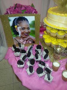Gold Goddess dessert table