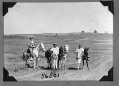https://flic.kr/p/71SCAH | Expedition members and horses | Expedition member on horse, two other men with horses standing. 1927.  Name of Expedition: Daily News Abyssinian Expedition Participants: Wilfred Osgood, Louis Agassiz Fuertes, C. Suydam Cutting, Jack Baum, Alfred M. Bailey Expedition Start Date:  September 7, 1926 Expedition End Date: May 20, 1927 Purpose or Aims: Zoology Mammals and Birds Location: Africa, Ethiopia [Abyssinia], Gojam, Debra Marcos  Original material: 4x5 inch…