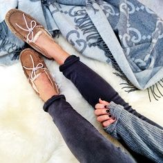 Ugg Slippers + Gucci Blanket #ugg #slippers #shoes #style