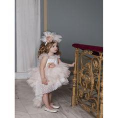 Βαπτιστικό φόρεμα Dolce Bambini ασύμμετρο τούλι με βολάν σε εκρού-σάπιο μήλο απόχρωση, Βαπτιστικά ρούχα κορίτσι επώνυμα-οικονομικά, Φόρεμα βάπτισης τιμές-προσφορά, Dolce Bambini βαπτιστικά κορίτσι eshop