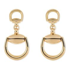 #Vintage #Gucci #Gold #stirrup #earrings