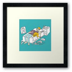 'Why should I make my bed again' Framed Print by Adrian Serghie Framed Prints, Bed, How To Make, Stream Bed, Beds