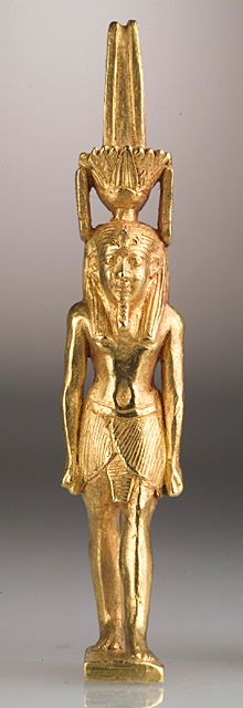 Amulet of the god Nefertem. Efypt 19th-20th Dynasty (1315-1081 B.C.) or later.