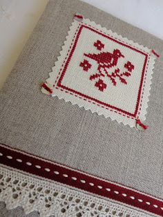 Stitches  Crosses/ a book cover with finishing ideas in photo