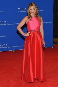 Pin for Later: Hollywood Goes to Washington: See Every Look From the White House Correspondents' Dinner Idina Menzel The singer looked lovely in a bright, berry-hued number.