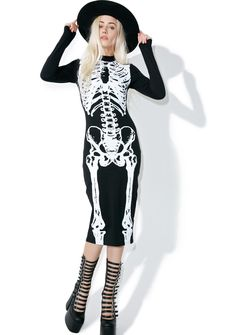 Iron Fist Wishbone Midi Dress @dollskill