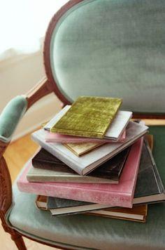 Books covered in velvet