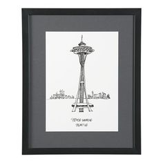 $69.95 Cityscape Seattle Print (For a Black, Gray, Yellow, White, Cream Room - Living Room or Bedroom?)